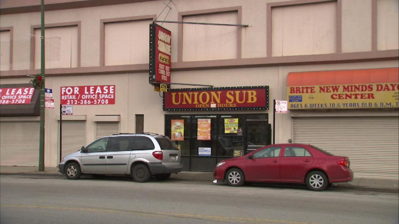 Chicago Police are investigating a shooting that injured two men inside a South Side sub shop.