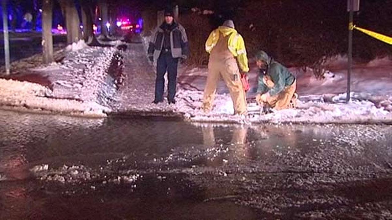 Frigid temperatures cause water main break in Winnetka
