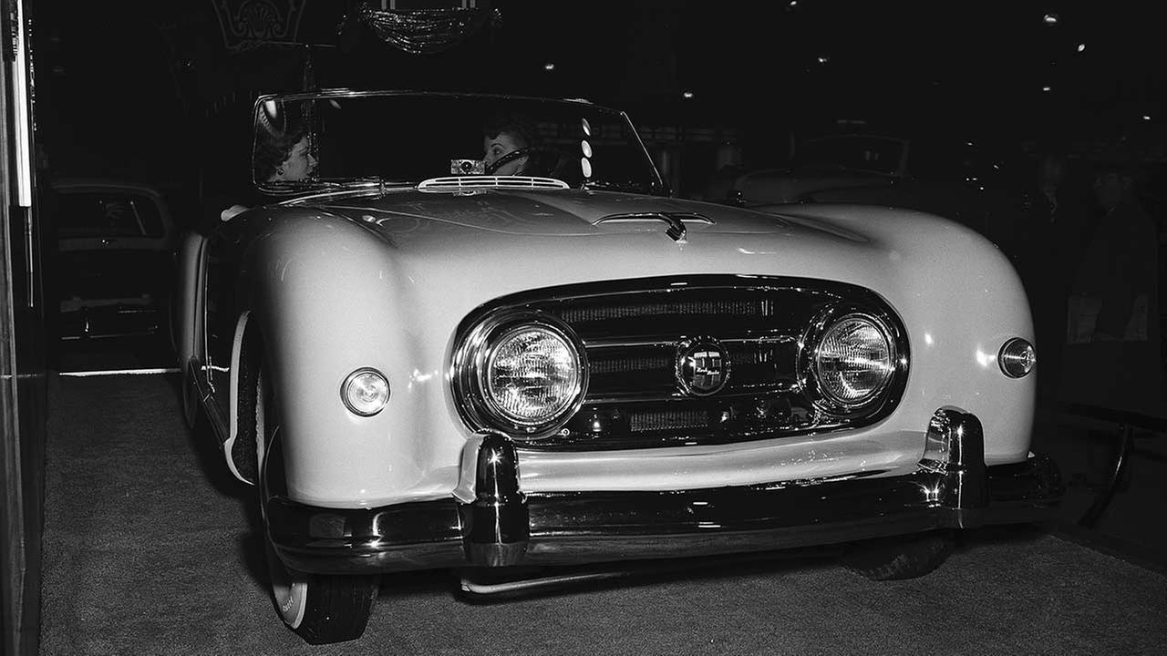 The Nash-Healey sports model for 1952, designed by Pinin Farina of Italy, at the 44th Annual Chicago Automobile Show at the International Amphitheater displayed on Feb. 21, 1952.AP Photo