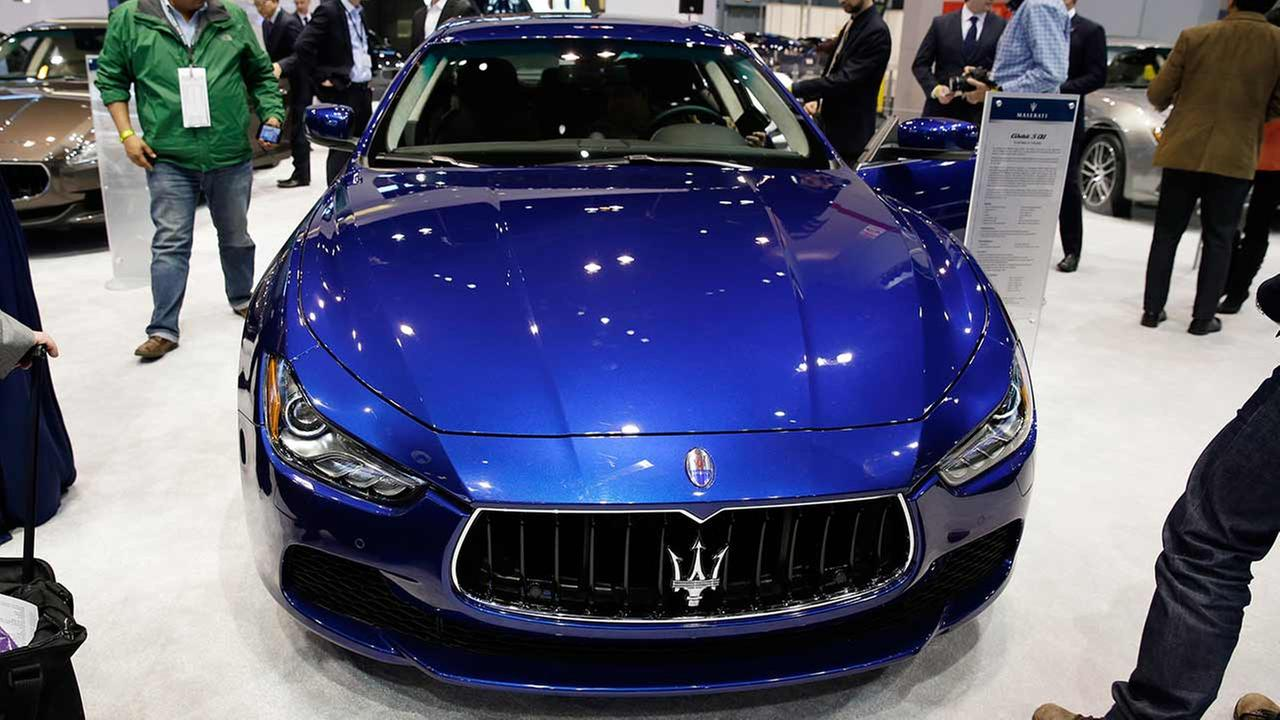 The Maserati Ghibli S Q4 is displayed during the media preview of the Chicago Auto Show at McCormick Place in Chicago on Feb. 6, 2014.AP photo/Nam Y. Huh, File