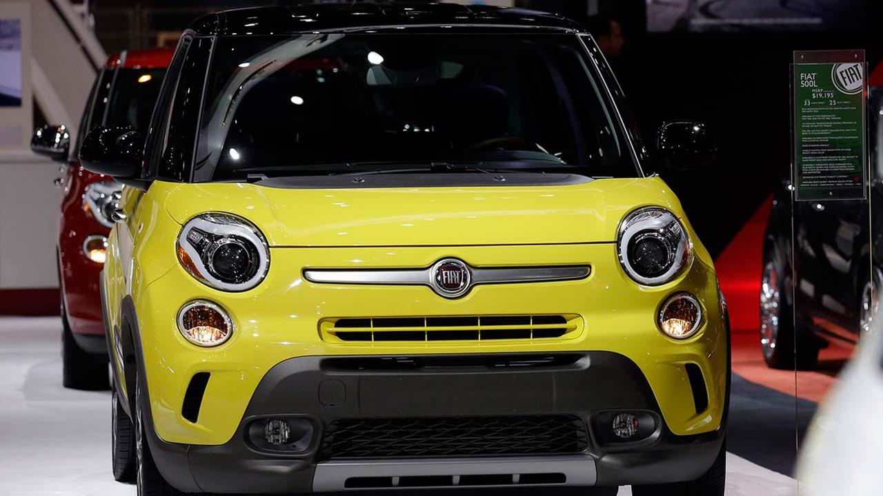The 2014 Chrysler Fiat 500L is displayed during the media preview of the Chicago Auto Show at McCormick Place in Chicago on Feb. 7, 2014.AP photo/Nam Y. Huh