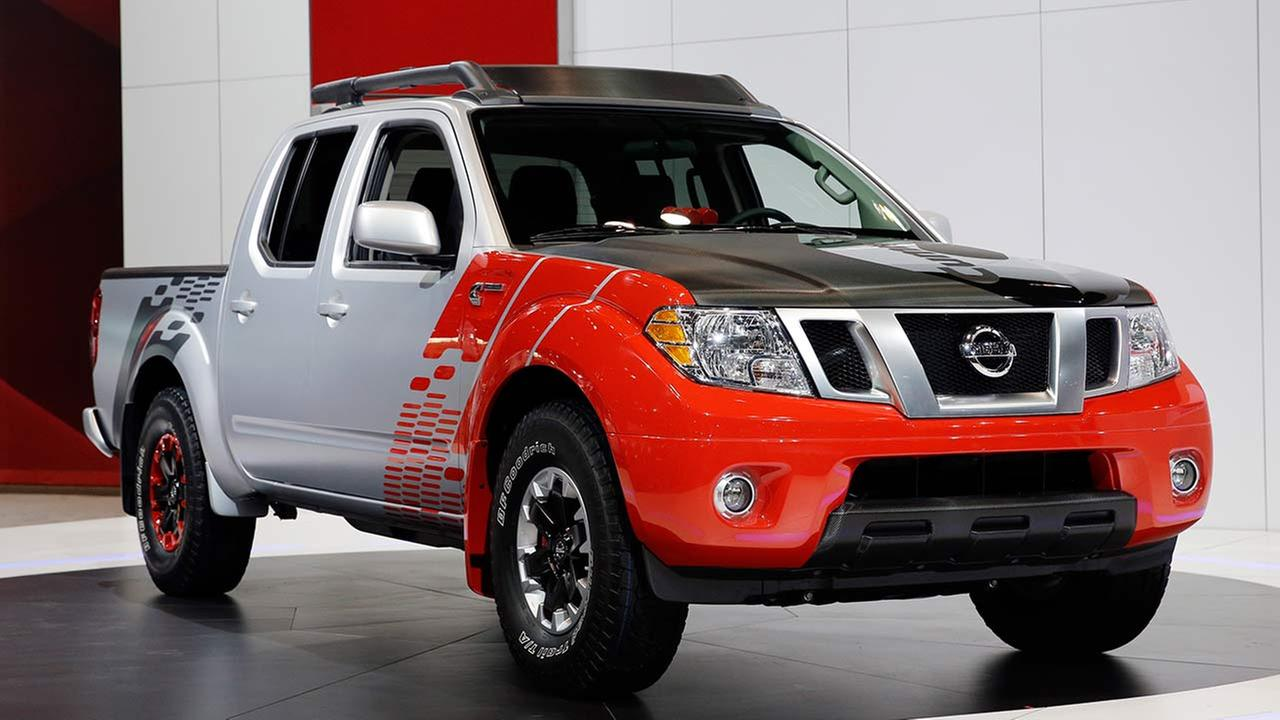 Nissan introduces the Frontier Diesel truck during the media preview of the Chicago Auto Show at McCormick Place in Chicago on Feb. 6, 2014.AP photo/Nam Y. Huh