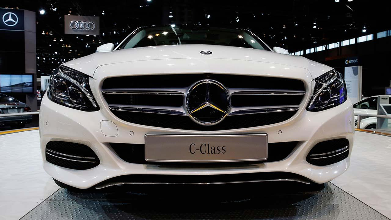 The Mercedes-Benz 2015 C-Class is displayed during the media preview of the Chicago Auto Show at McCormick Place in Chicago on Feb. 6, 2014.AP photo/Nam Y. Huh