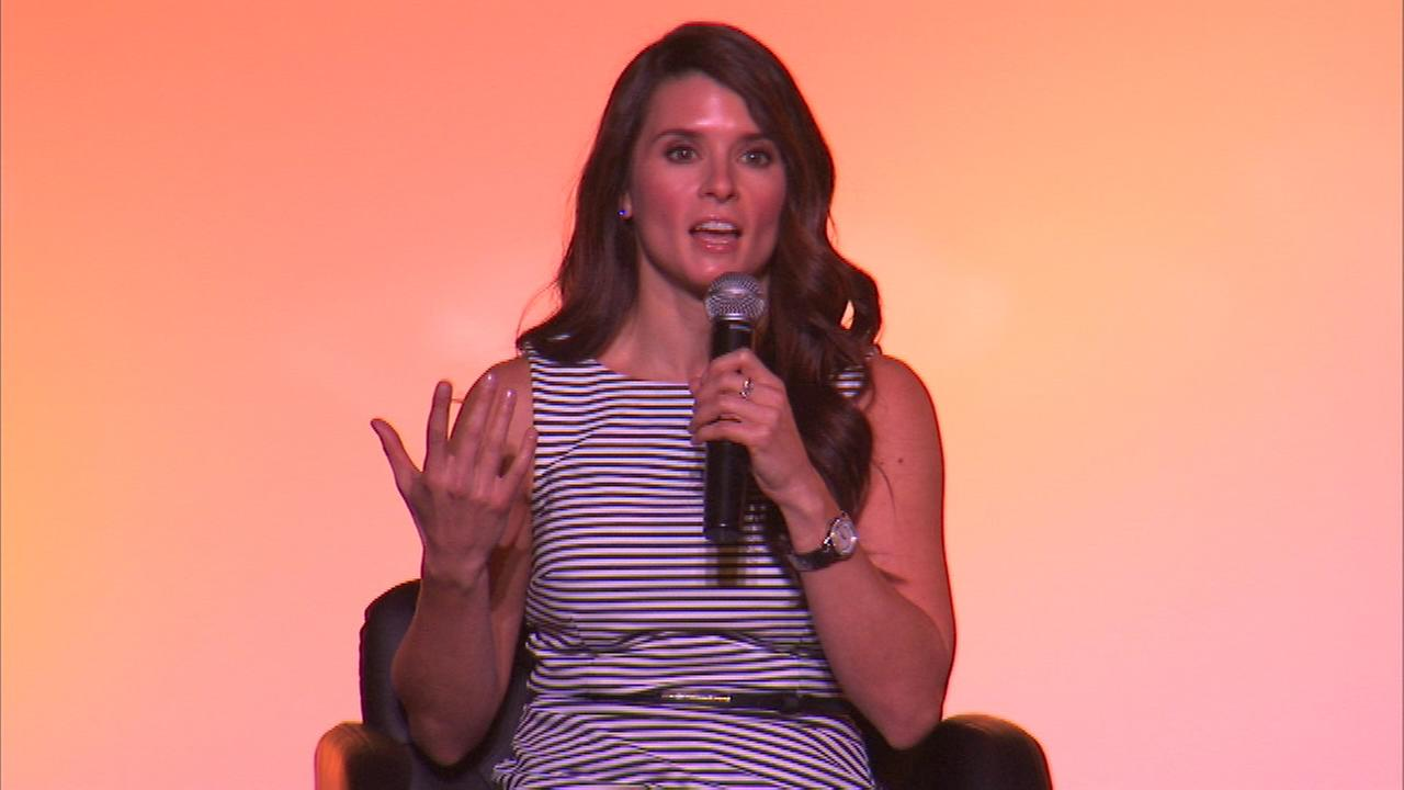 Race car driver Danica Patrick was in suburban Lombard Thursday night to remind people that you dont need to be an expert to take steps to improve your health.