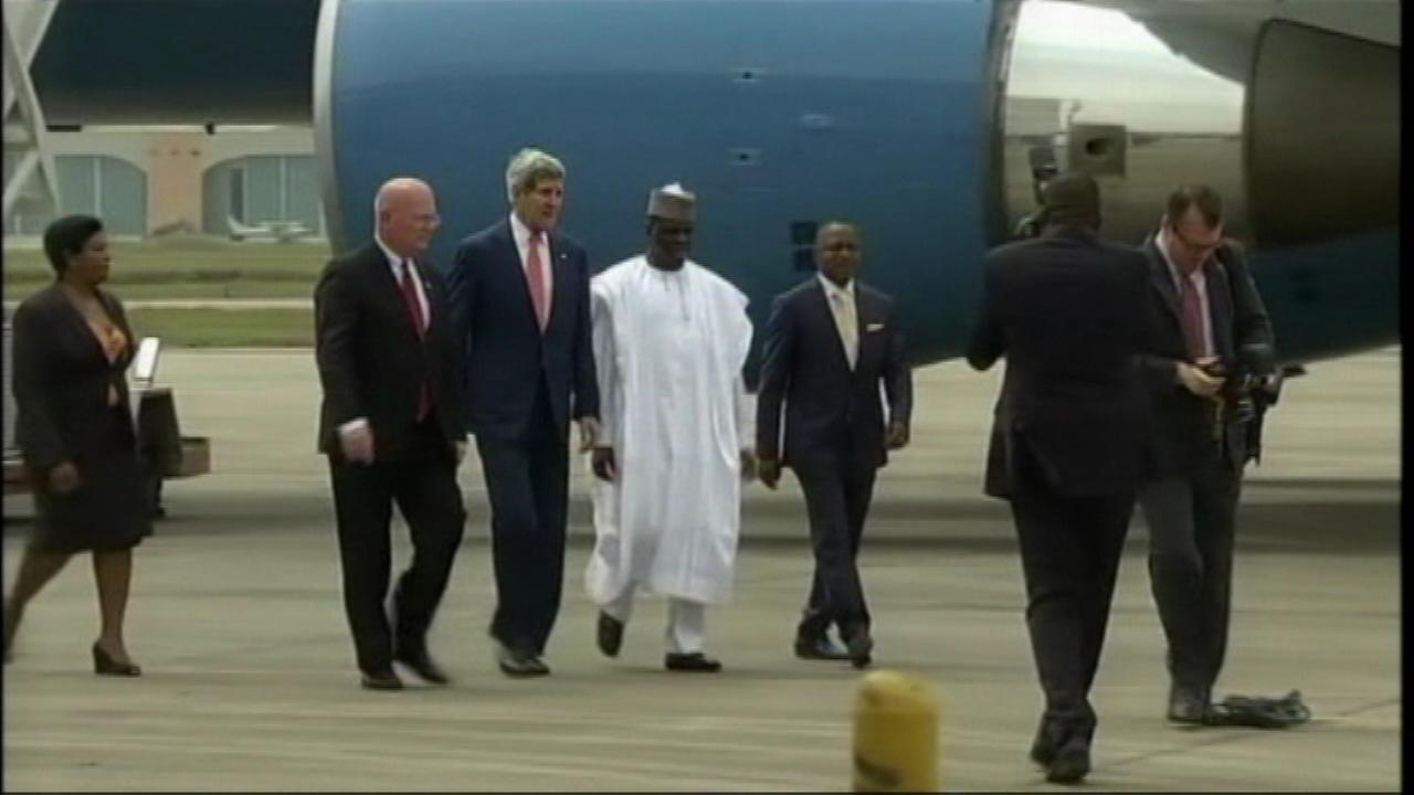 U.S. Secretary of State John Kerry arrives Lagos, Nigeria on Sunday, January 25, 2015.