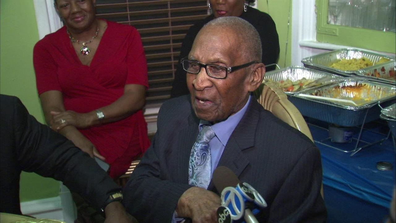 Chicagoan Wash Wesley celebrated his 112th birthday on Sunday, January 25, 2015..