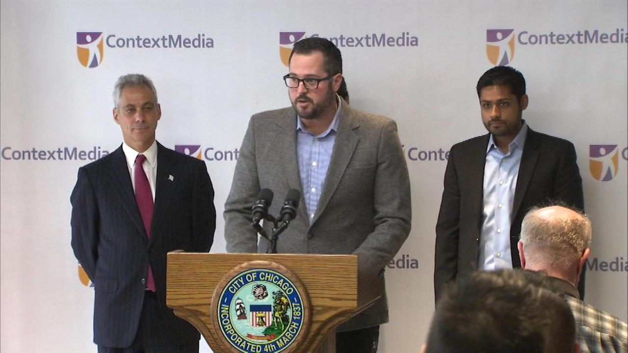 Chicago-based Context Media announced plans to add hundreds of jobs in the city by the end of next year.