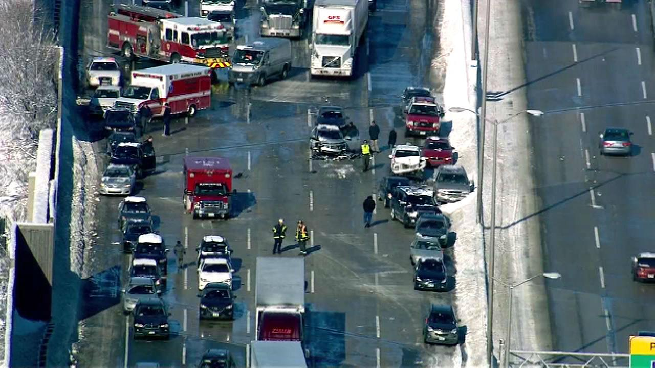 PHOTOS: Multi-vehicle crash closes I-294 near Hickory Hills
