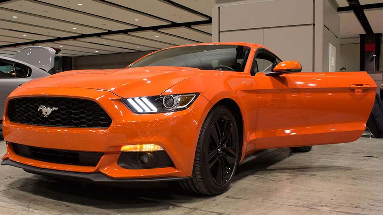 The 2015 GT 350R Mustang during the Concept and Technology Garage event at the 2015 Chicago Auto Show on Feb. 11, 2015.