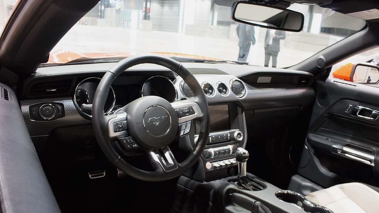 An inside look at the 2015 GT 350R Mustang during the Concept and Technology Garage event at the 2015 Chicago Auto Show on Feb. 11, 2015.