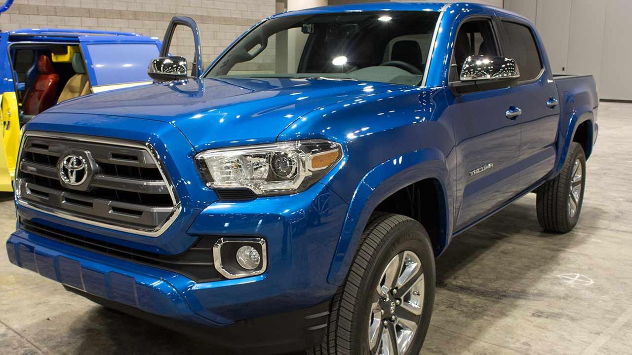 The 2016 Toyota Tacoma during the Concept and Technology Garage event at the 2015 Chicago Auto Show on Feb. 11, 2015.
