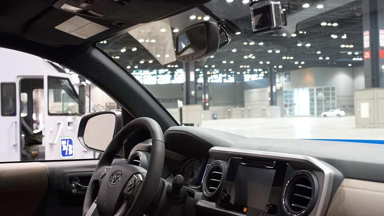 The 2016 Toyota Tacoma is the first vehicle to have a factory-installed GoPro camera in it, appearing during the Concept and Technology Garage event at the 2015 Chicago Auto Show.