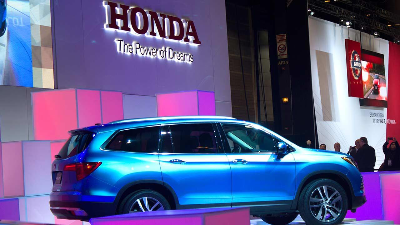 Honda unveiled its 2016 Pilot during the media preview of the 2015 Chicago Auto Show on Feb. 12, 2015.