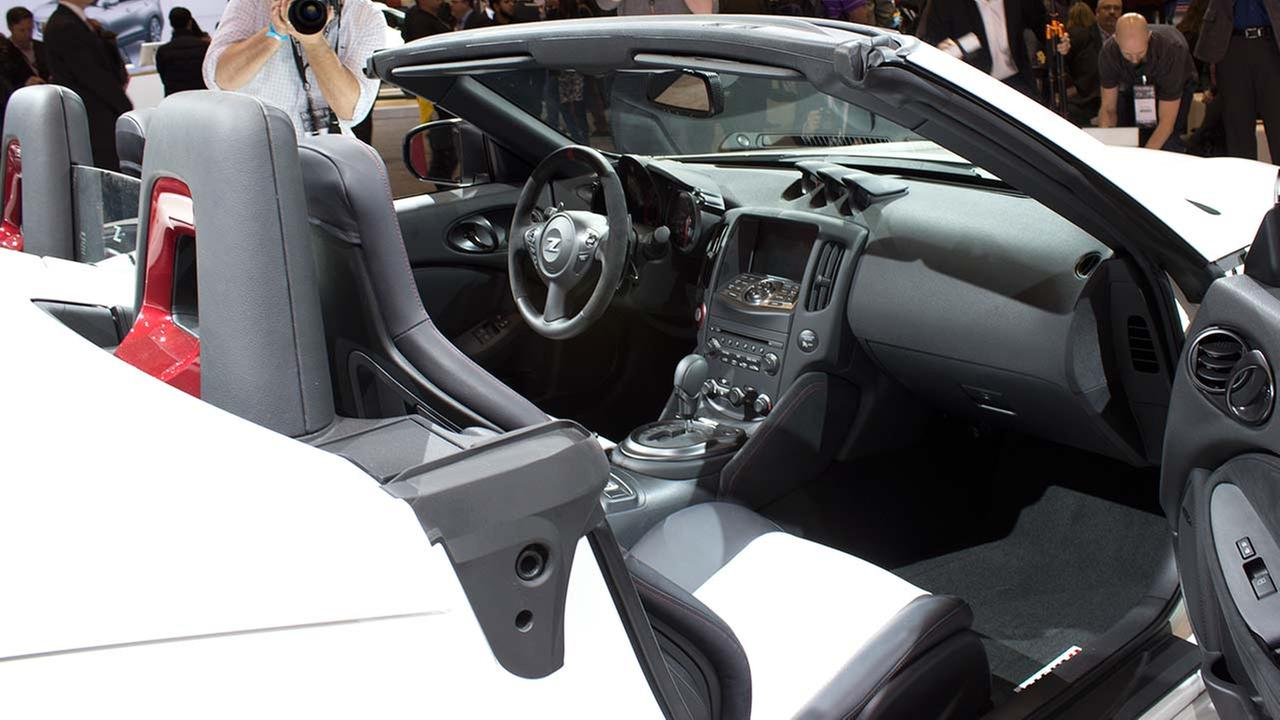 The inside of the Nissan 2016 Nismo 370Z roadster during the media preview of the 2015 Chicago Auto Show on Feb. 12, 2015.