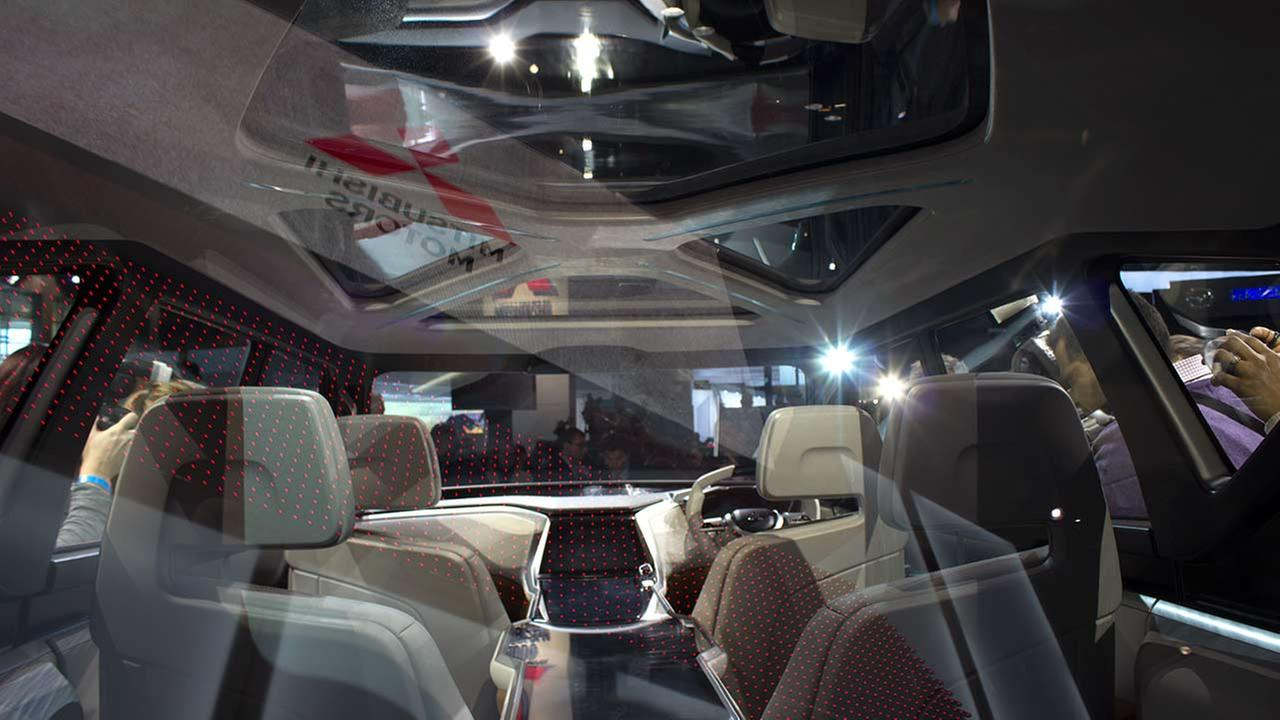 An inside view of the Mitsubishi 2016 concept GC PHEV during the media preview of the 2015 Chicago Auto Show on Feb. 12, 2015.