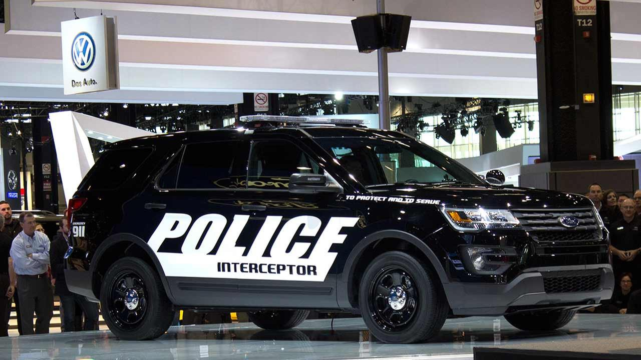 Ford unveiled its 2016 Ford Interceptor during the media preview of the 2015 Chicago Auto Show on Feb. 12, 2015.