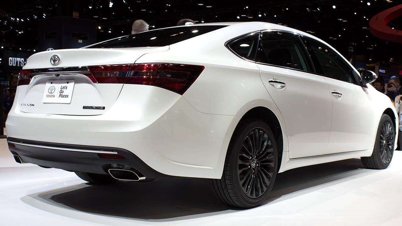 Toyota unveiled its 2016 Avalon (seen here), Camry and Corolla models during the media preview of the 2015 Chicago Auto Show on Feb. 12, 2015.