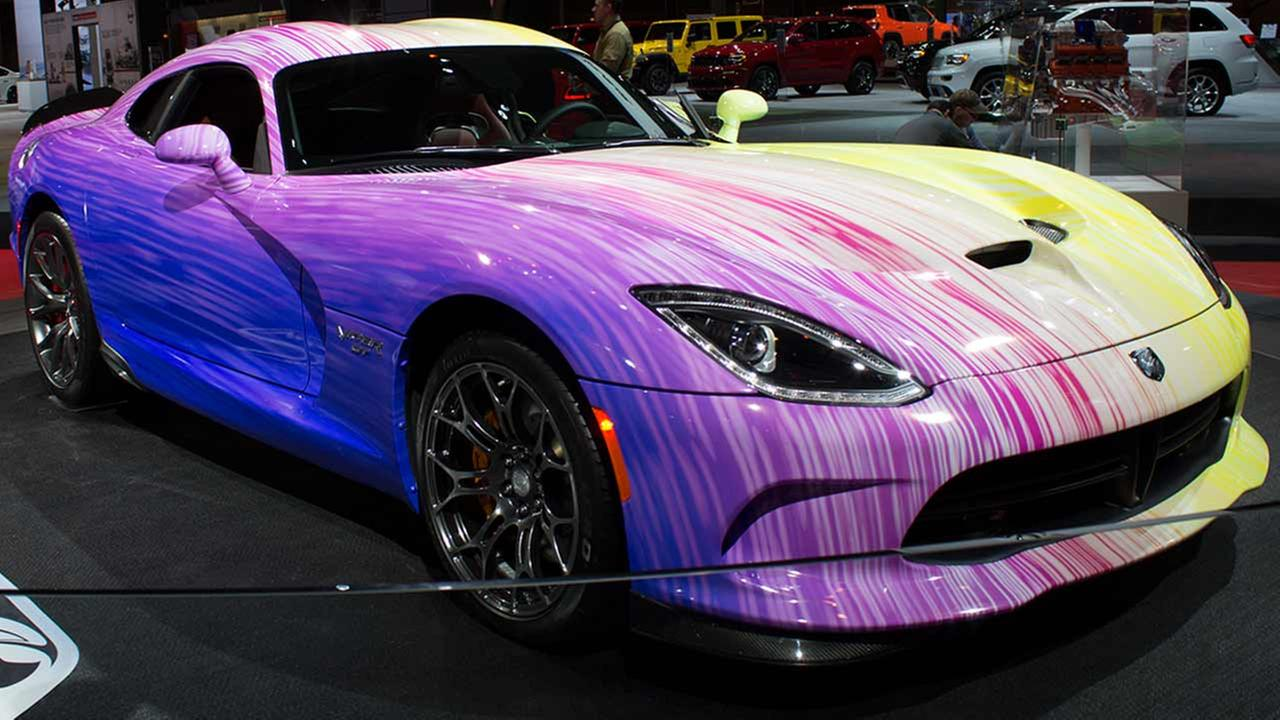 The 2015 Dodge Viper SRT on display at the Chicago Auto Show on Feb. 12, 2015.