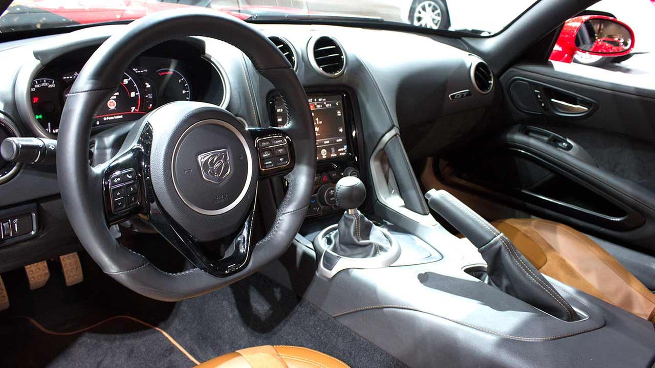 An inside view of the 2015 Dodge Viper SRT on display at the Chicago Auto Show on Feb. 12, 2015.