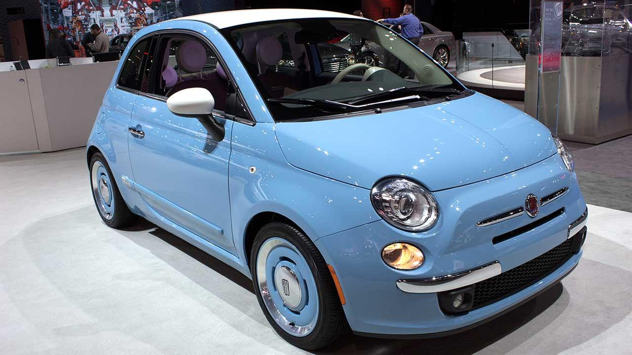 The 2015 Fiat 500 on display at the Chicago Auto Show on Feb. 12, 2015.