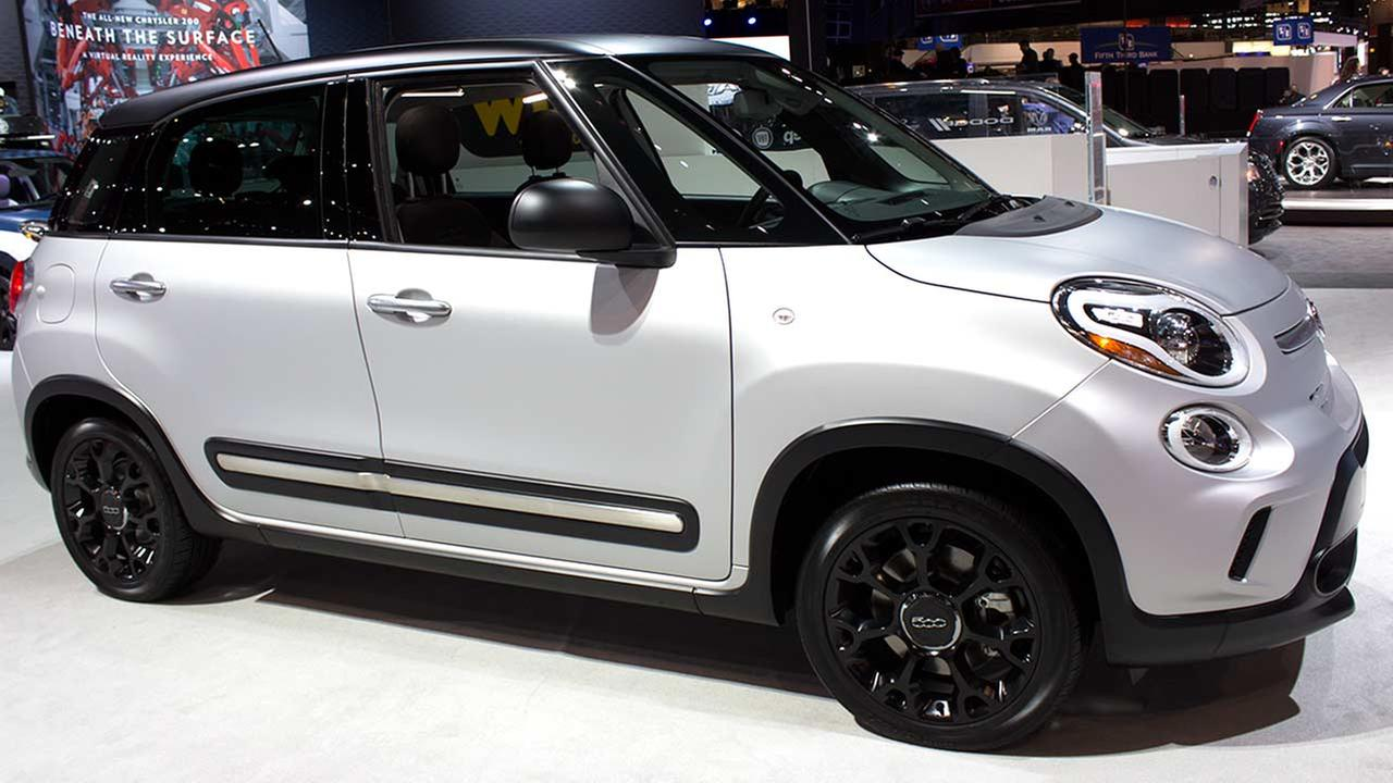 The 2015 Fiat 500L on display at the Chicago Auto Show on Feb. 12, 2015.