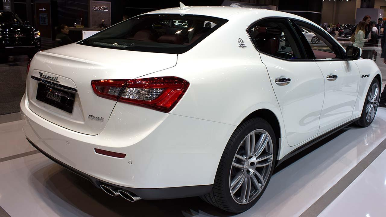 The 2015 Maserati Ghibli on display at the Chicago Auto Show on Feb. 12, 2015.