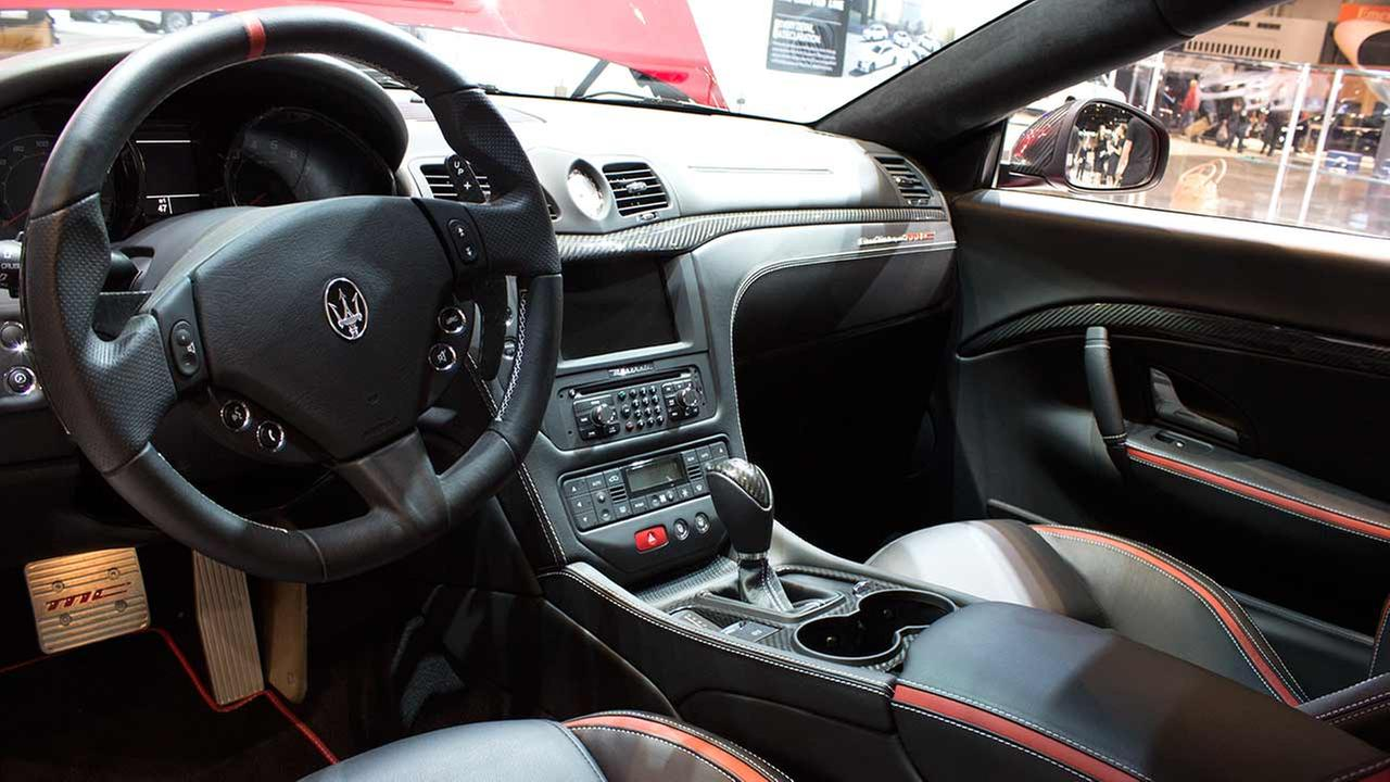 An inside look into the 2015 Maserati GranTurismo MC on display at the Chicago Auto Show on Feb. 12, 2015.