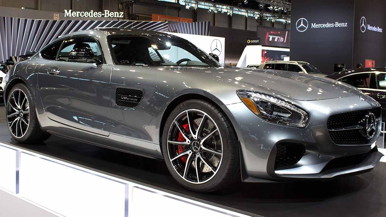 The 2015 Mercedes AMG GT S on display at the Chicago Auto Show on Feb. 12, 2015.