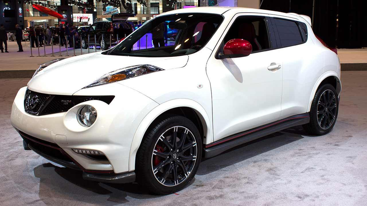 The 2015 Nissan Nismo RS on display at the Chicago Auto Show on Feb. 12, 2015.