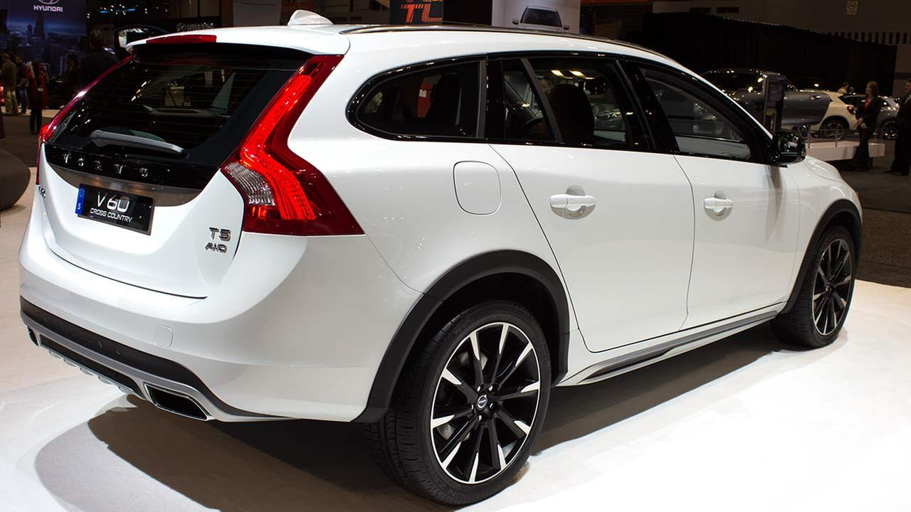 The 2015 Volvo V60 Cross Country T5 on display at the Chicago Auto Show on Feb. 12, 2015.