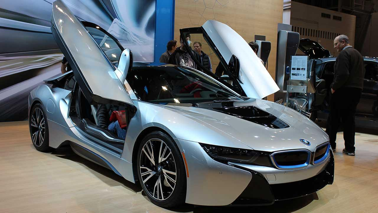 The 2014 BMW i8 on display at the Chicago Auto Show on Feb. 13, 2015.