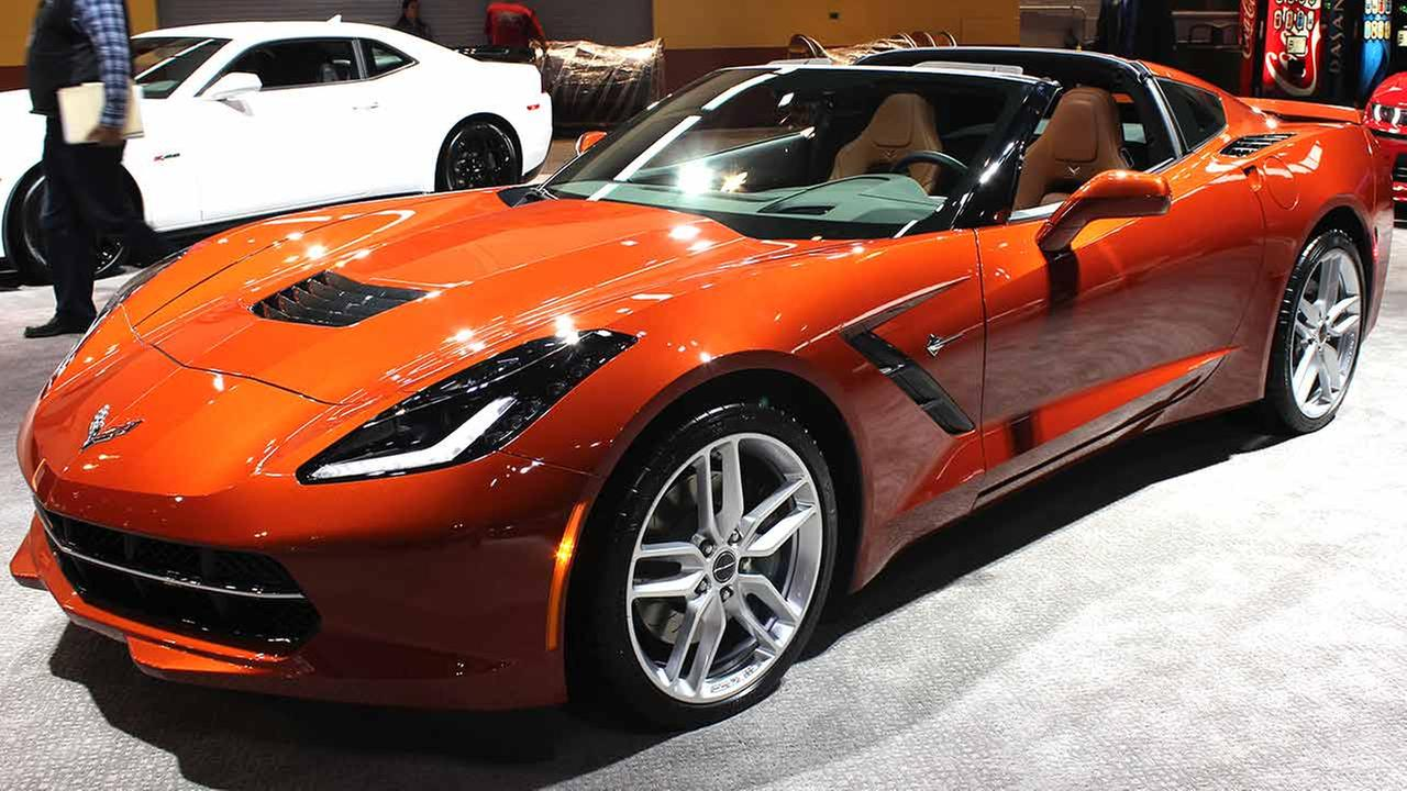 The 2015 Chevrolet Corvette on display at the Chicago Auto Show on Feb. 13, 2015.