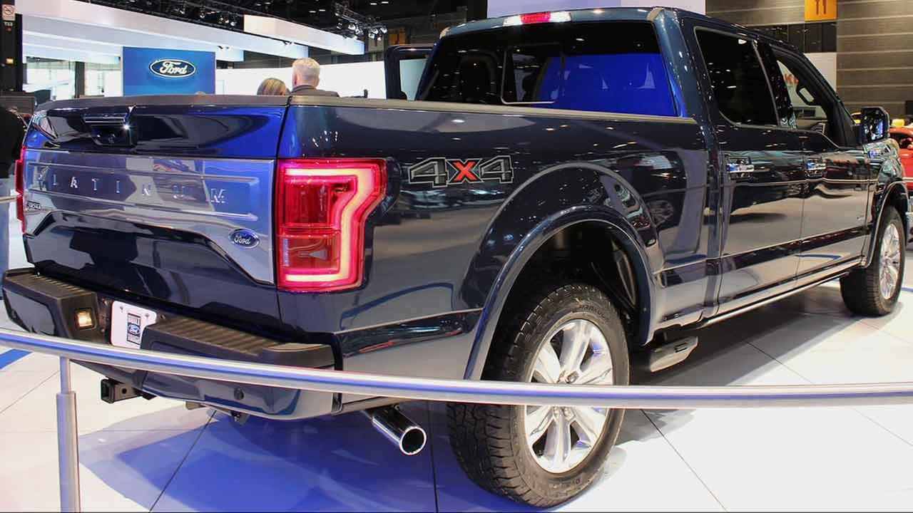 The 2015 Ford F150 Platinum on display at the Chicago Auto Show on Feb. 13, 2015.