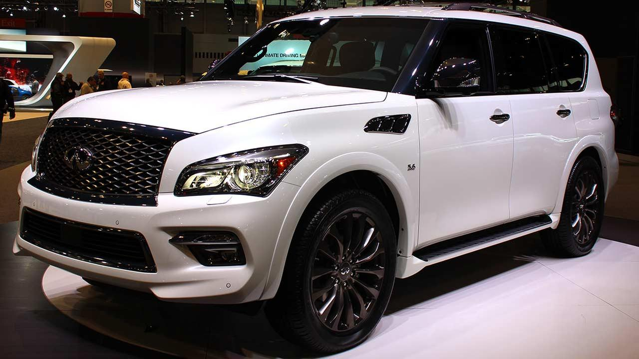 The 2015 Infiniti QX80 on display at the Chicago Auto Show on Feb. 13, 2015.