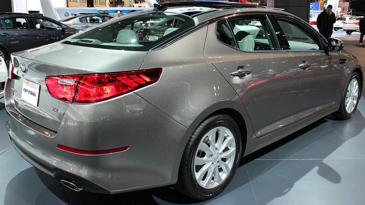 The 2015 Kia Optima EX on display at the Chicago Auto Show on Feb. 13, 2015.