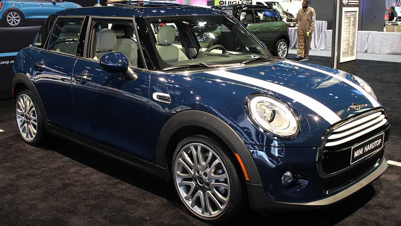 The 2015 Mini Cooper Hardtop 4-Door on display at the Chicago Auto Show on Feb. 13, 2015.