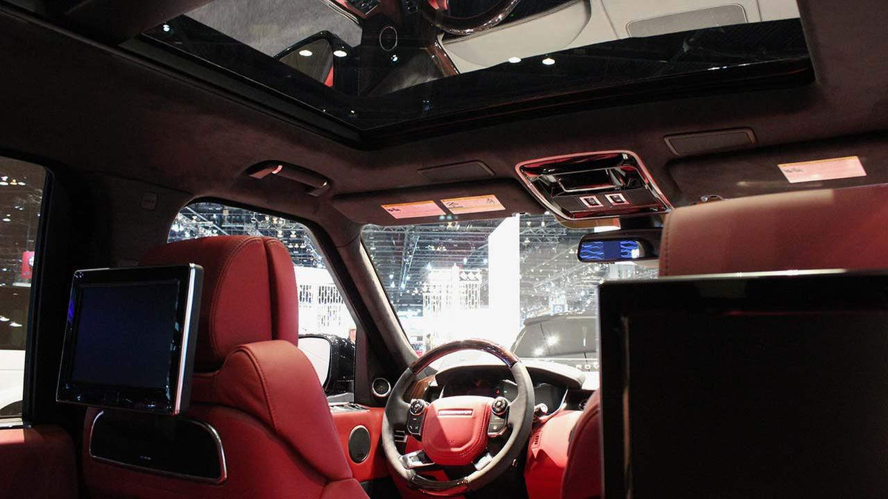 A look inside the 2015 Range Rover on display at the Chicago Auto Show on Feb. 13, 2015.