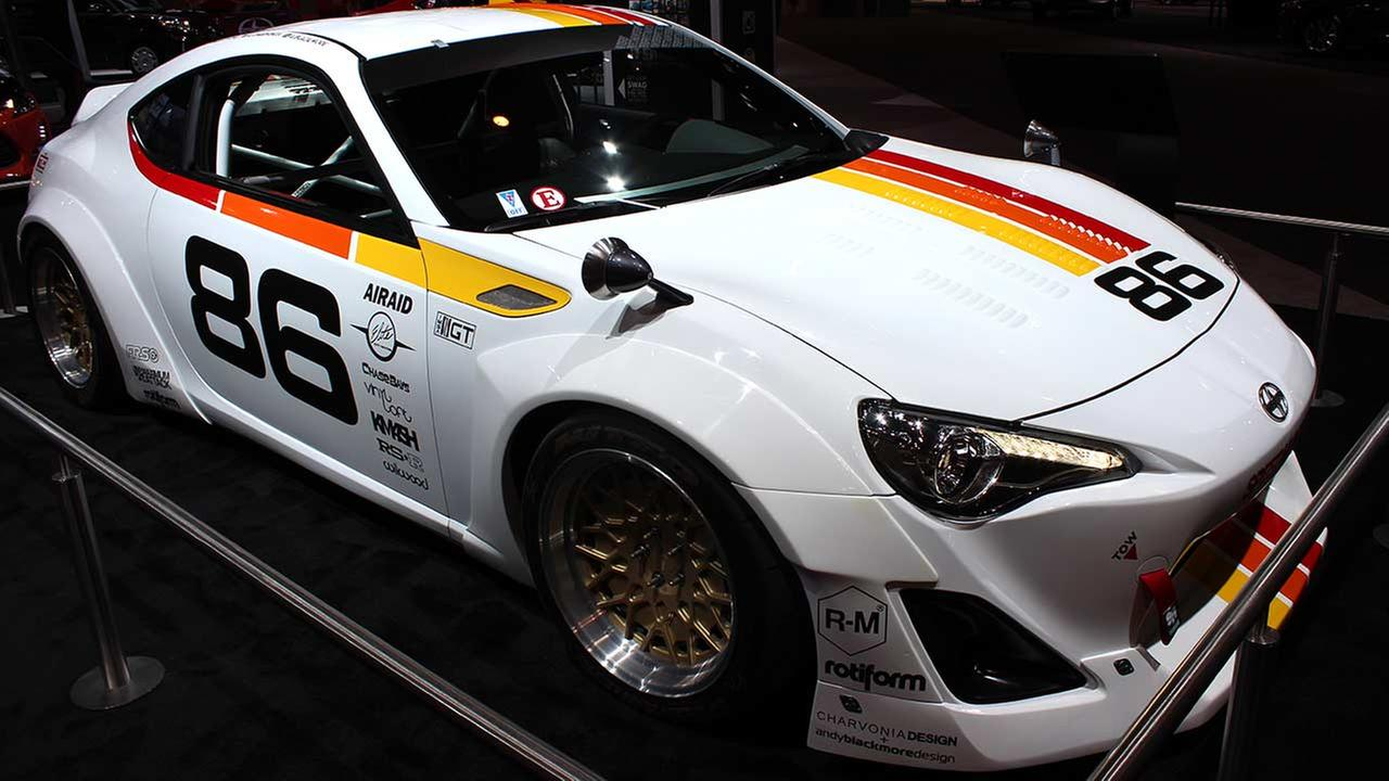 The 2015 Scion Maximum Attack FR-S on display at the Chicago Auto Show on Feb. 13, 2015.