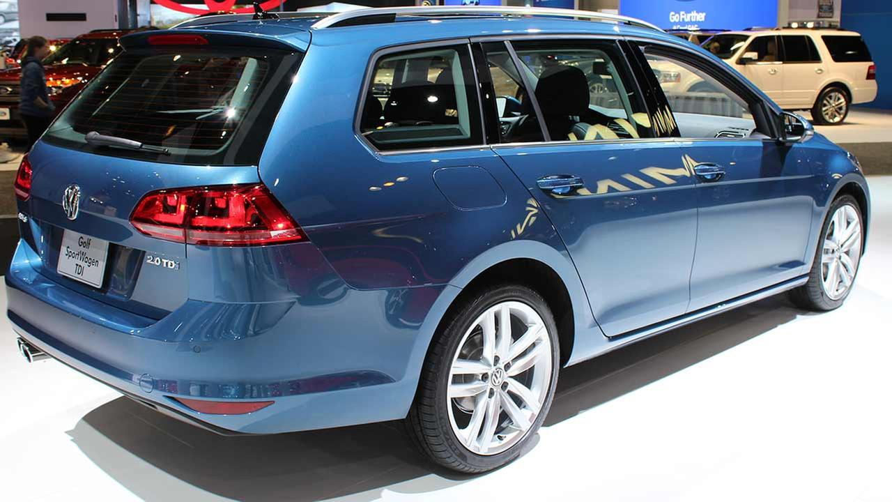 The 2015 Volkswagen Golf SportWagen TDI on display at the Chicago Auto Show on Feb. 13, 2015.