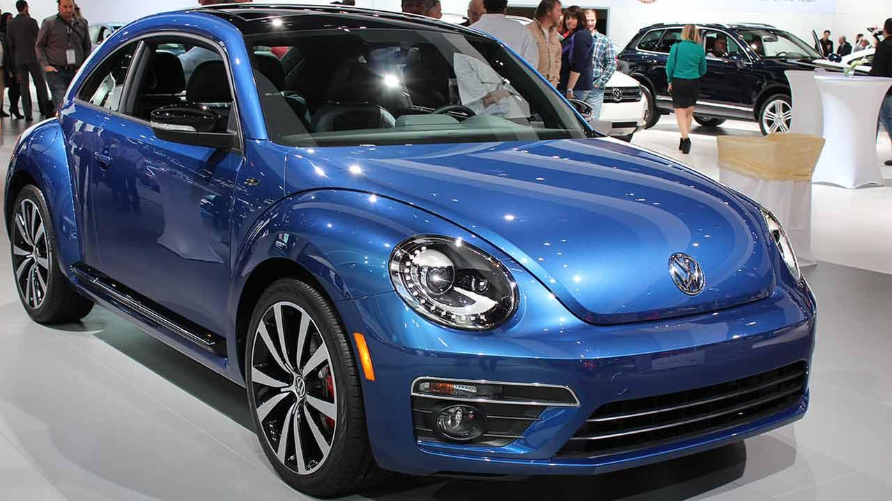 The 2015 Volkswagen Beetle R-Line on display at the Chicago Auto Show on Feb. 13, 2015.