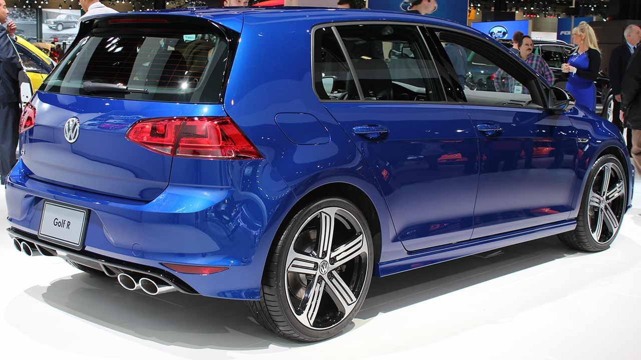 The 2015 Volkswagen Golf R on display at the Chicago Auto Show on Feb. 13, 2015.