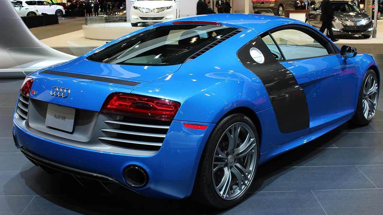 The 2015 Audi R8 V10 Plus on display at the Chicago Auto Show on Feb. 13, 2015.
