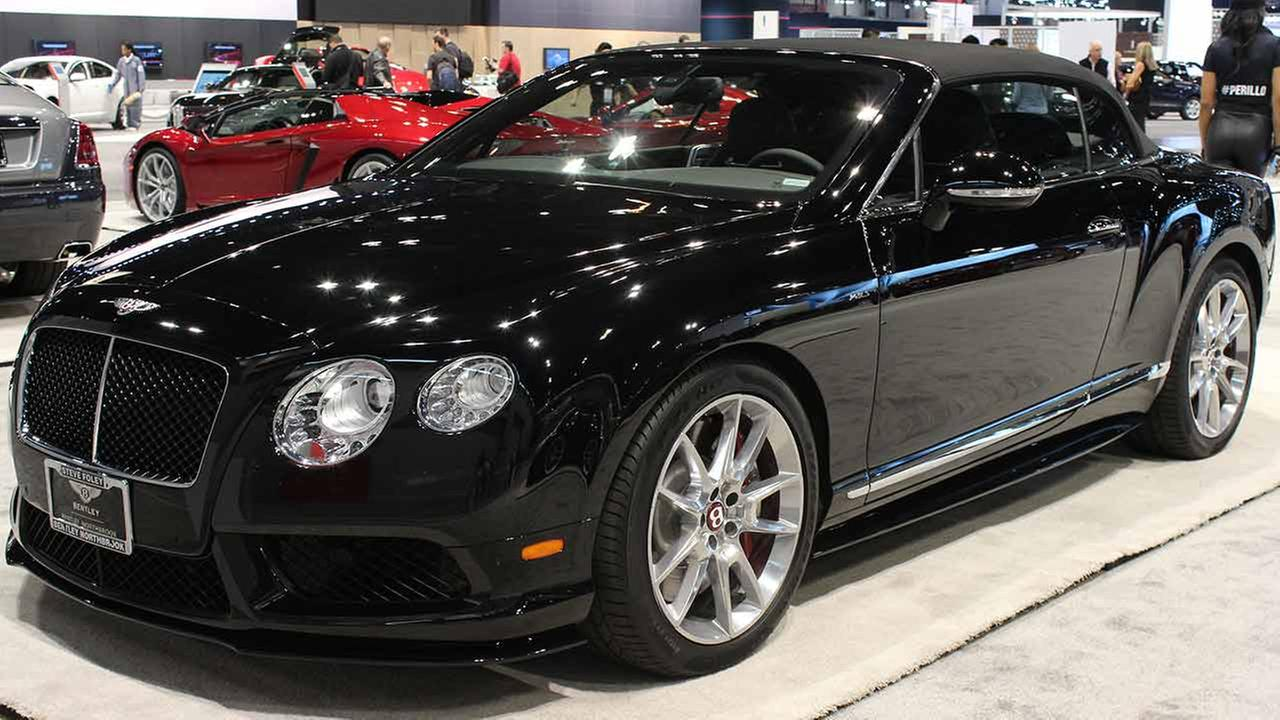 The 2015 Bentley Continental GT on display at the Chicago Auto Show on Feb. 13, 2015.