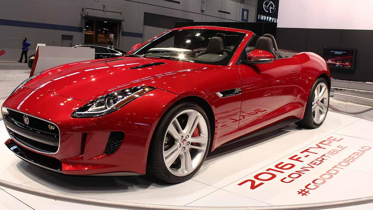The 2015 Jaguar F-Type on display at the Chicago Auto Show on Feb. 13, 2015.