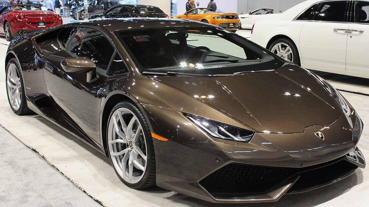 The Lamborghini Huracan LP610-4 on display at the Chicago Auto Show on Feb. 13, 2015.