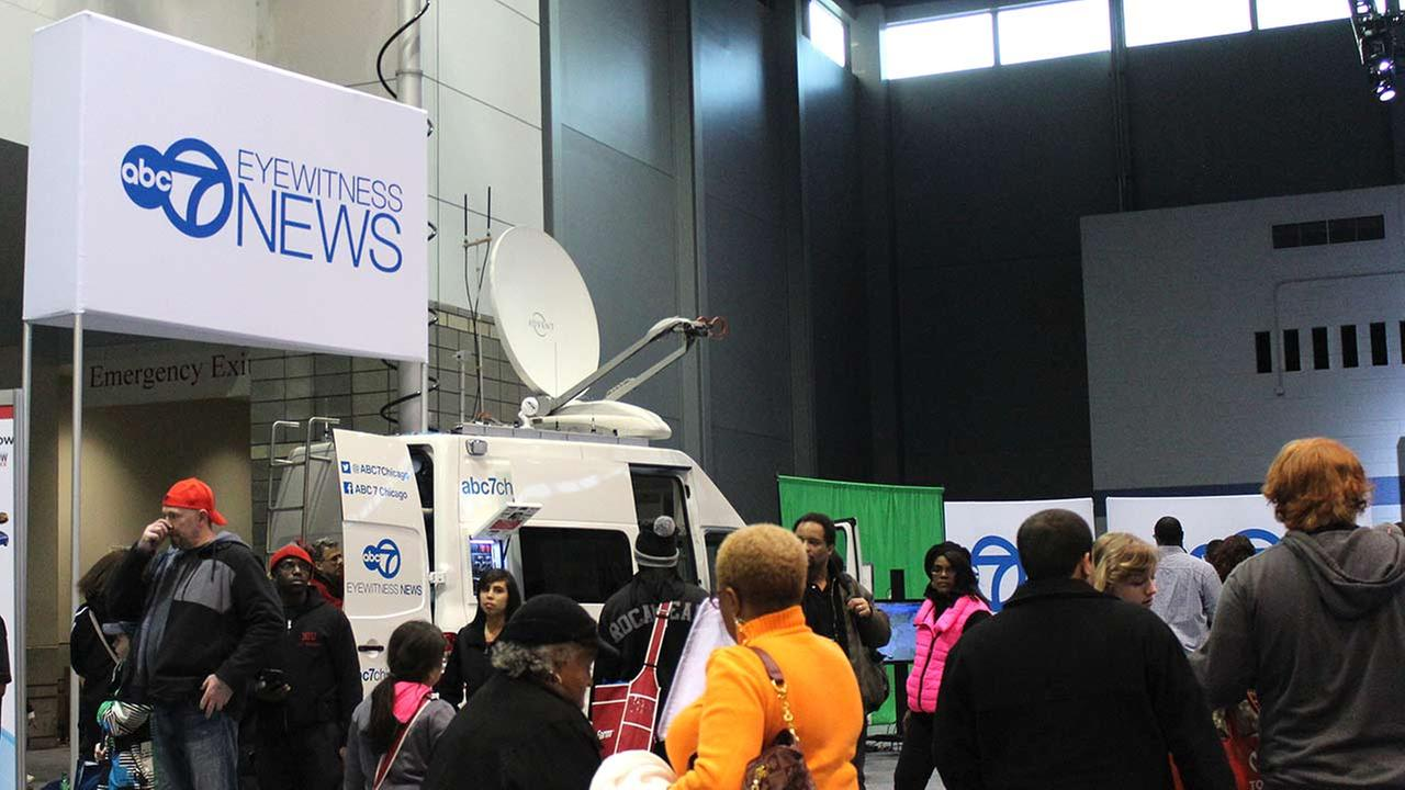 ABC7s Social Media area at the 2015 Chicago Auto Show on Feb. 14, 2015. ABC7 is an official media partner of this years show.