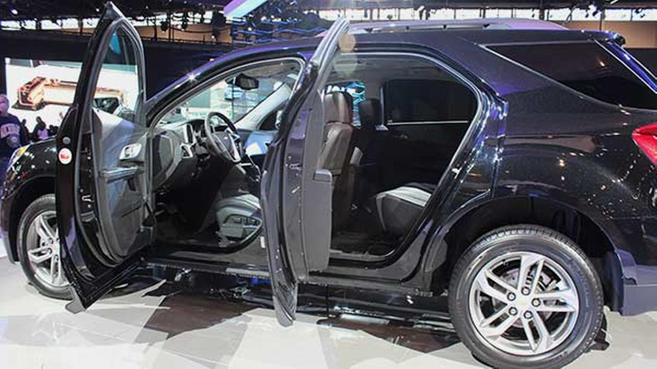 An inside view of the 2016 Chevy Equinox during the 2015 Chicago Auto Show on Feb. 14, 2015.