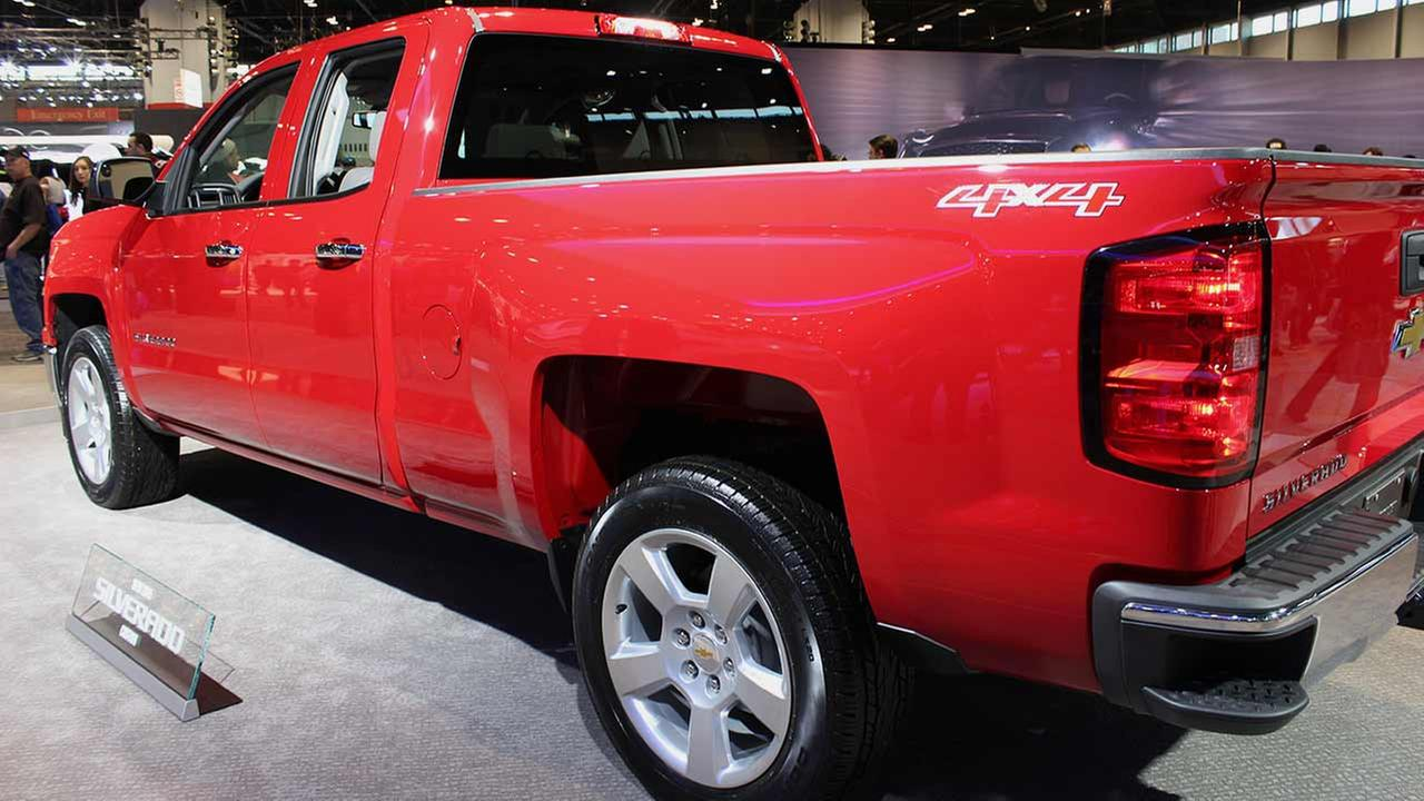 Chevy unveiled its 2016 Silverado Custom pickup during the media preview of the 2015 Chicago Auto Show on Feb. 12, 2015.