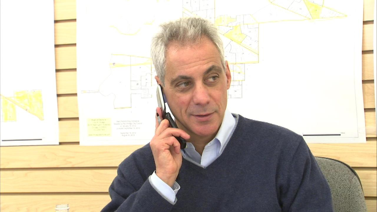 Rahm Emanuel kicked off what he is calling his Running with Rahm canvasing effort Saturday.