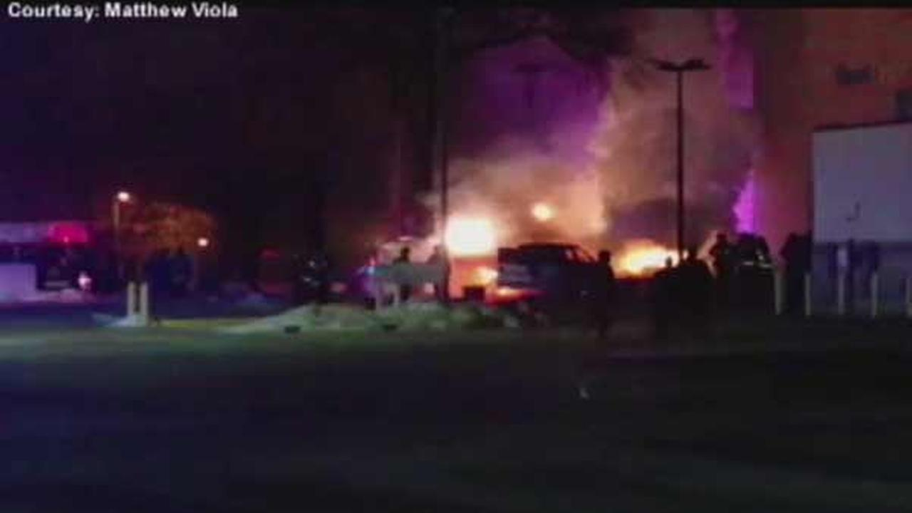 A medical helicopter crashed in St. Louis early Saturday, killing the pilot.
